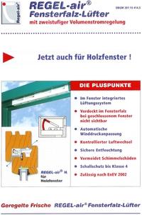Regel Air Typ 24 Fensterfalzl 252 Fter F 252 R Holzfenster In Wei 223