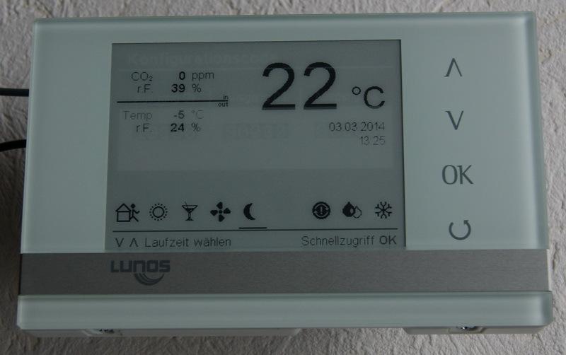lunos e2 steuerung klimaanlage und heizung zu hause. Black Bedroom Furniture Sets. Home Design Ideas