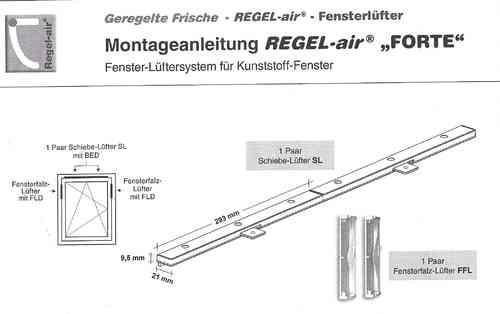 Top REGEL-air Kunststofffenster Fensterlüfter - Lüftungssysteme B. Happel WV74