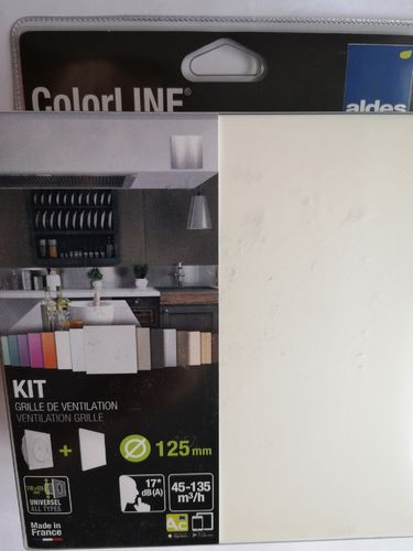Aldes ColorLine-Set, Ab- Zuluftelement, d 125 mm, Blende in weiss, 45-135 cbm, Art. 11022157